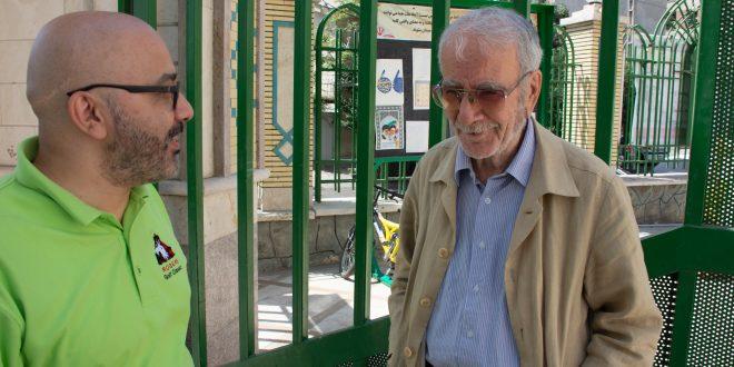 آراسپ کاظمیان و دکتر ابراهیمی دینانی