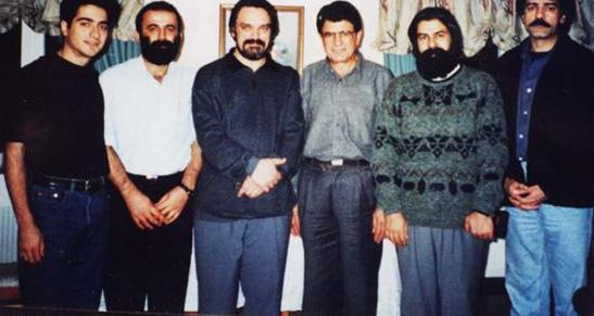 سید خلیل عالی نژاد کنار استاد شجریان و حسین علیزاده